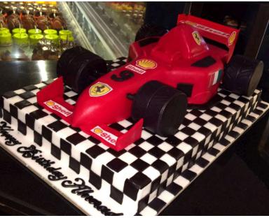 Formula One Car Cake