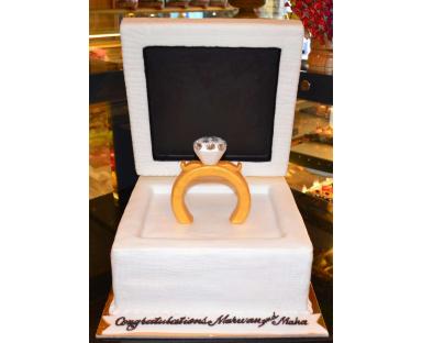 Ring Box 3D Cake