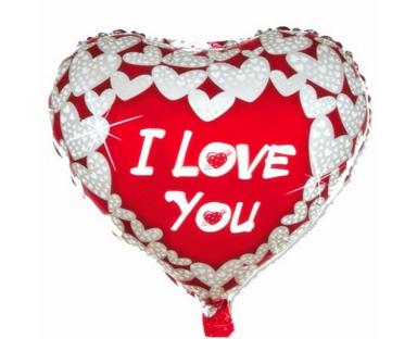 I Love You Heart Shape Balloon 46 cm