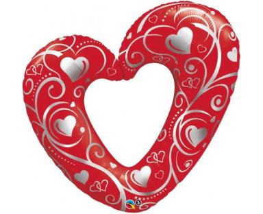 Red Heart Shape Balloon 107 cm