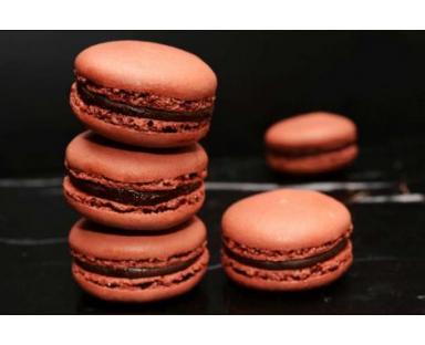 Chocolate Macarons 16 Pieces Box