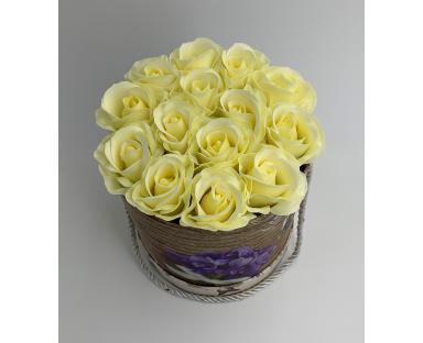 14 White Soap Roses