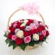 50 Mix Roses Basket