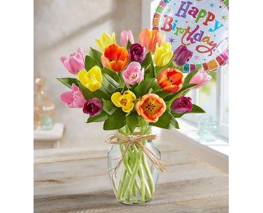 Tulips Happy Birthday