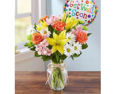 Get Well Bouquet & Balloon