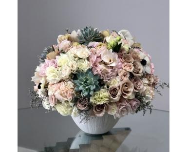 Precious Blooms in a Vase