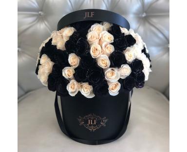 Signature Black And White Roses