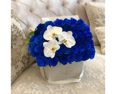 Signature Blue Roses & Orchids