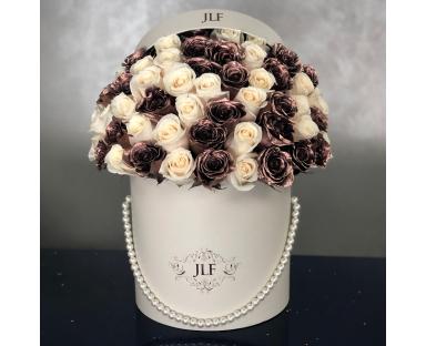 Signature Rose Gold & White Roses