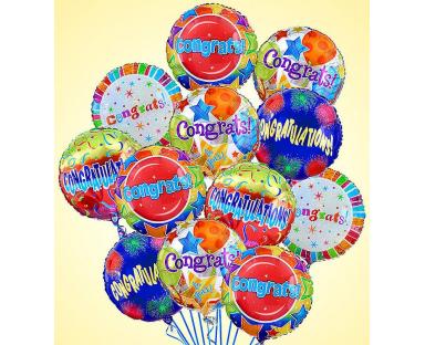 12 Congratulations Premium Balloons