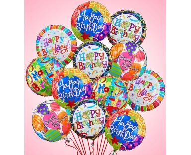 12 Birthday Premium Balloons