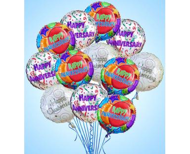 12 Anniversary Premium Balloons