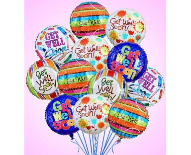12 Get Well Premium Balloons