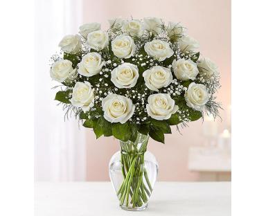 White Roses Elegance 20-100 Stems