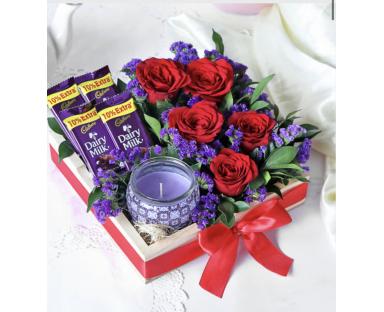 Flowers&choco gift set