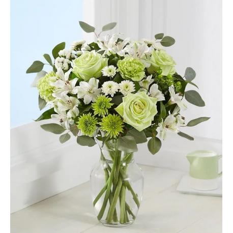 "Roses, Chrysanthemum Flower Bouquet ""Stylish spring"""
