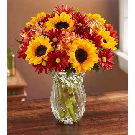 "Sunflowers, Chrysanthemum Flower Bouquet ""Harvest"""