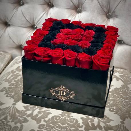 Red & Black Rose Box