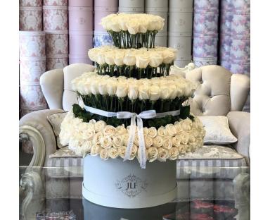 300 White Roses