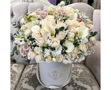ydrangea, Cala Lilies, Mix Roses Bouquet ''Selena''