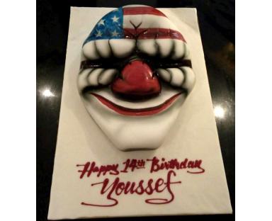 Clown Mask Cake