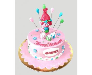 Trolls Cartoon Cake