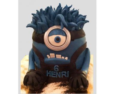 Minions Blue Cake