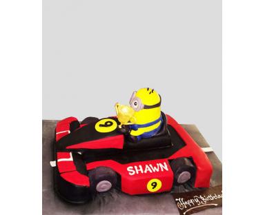 Minions Car Cake