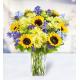 10 Helianthus 15 Delphiniums 12 Chrysanthemums