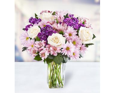 6 Roses 6 Chrysanthemums 6 Alstroemerias 6 Carnations