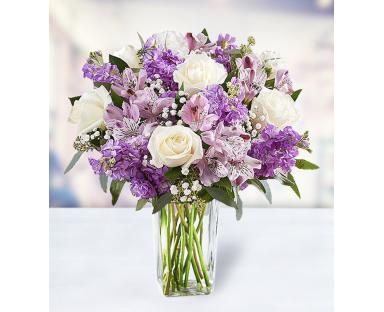 7 Roses 5 Carnations 5 Alstroemeria Eucalyptus