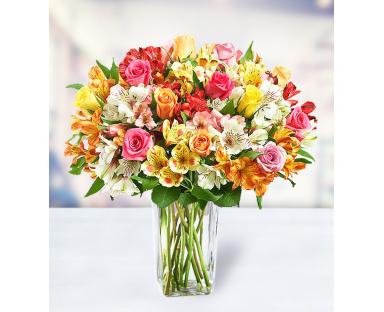 18 Roses 24 Alstroemerias