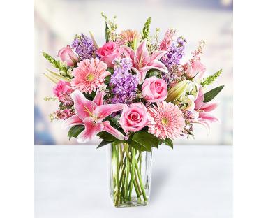 10 Roses 5 Gerberas 4 Lilies 4 Dendrobiums