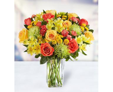 14 Roses 5 Alstroemerias 14 Chrysanthemums 5 Carnations