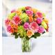 14 Roses 7 Gerberas 7 Chrysanthemums