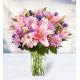 7 Lilies 5 Alstroemerias 7 Chrysanthemums 10 Delphiniums