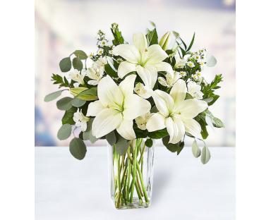 5 Lilies 5 Alstroemerias 3 Montecasino Eucalyptus