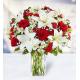 10 Roses 10 Carnations 7  Lilies 7 Alstroemerias