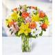7 Roses 7 Lilies 5 Alstroemerias 10 Chrysanthemums
