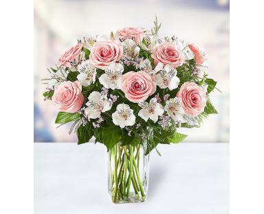 10 Roses 7 Limonium 8 Alstroemerias