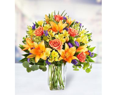 7 Roses 7 Lilies 7 Alstroemerias 7 Delphiniums