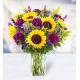 7 Helianthus 7 Carnations 10 Delphiniums