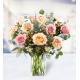 9 Roses 5 Carnations 5 Hypericum