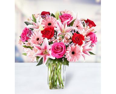 10 Roses 5 Lilies 7 Gerberas 7 Alstroemerias