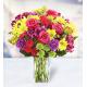 7 Roses 10 Carnations 10 chrysanthemums 5 Alstroemerias