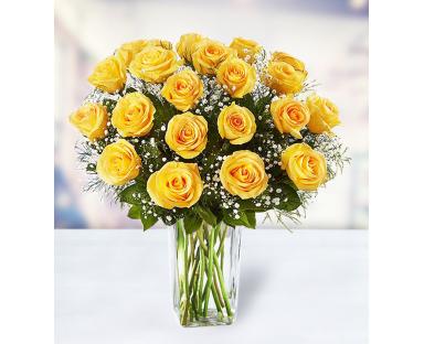 24 Yellow Roses